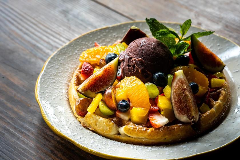 Cesarina's Tutti Frutti waffle is like a farmer's market bounty
