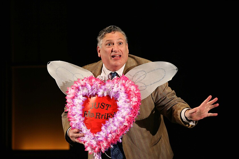 Harvey Fierstein rehearses a scene from 'A Catered Affair' in 2007.