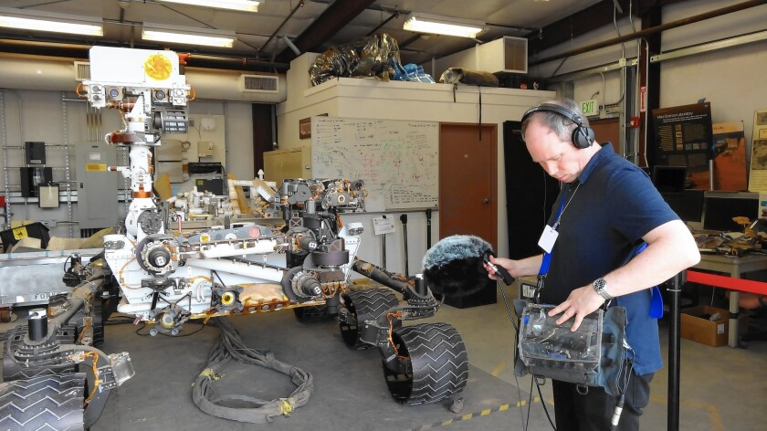 Oliver Tarney records sounds at JPL for 'The Martian'