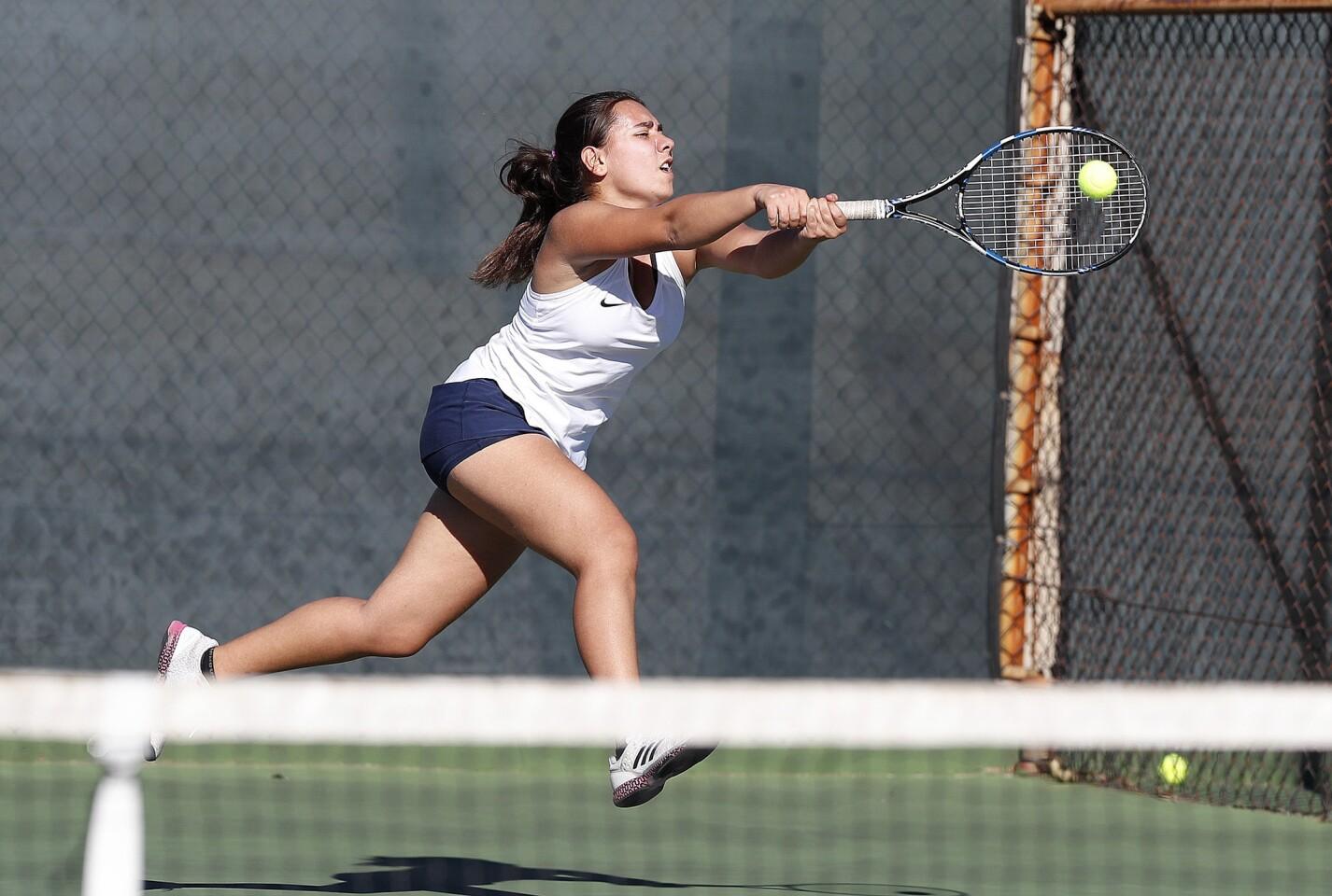 Photo Gallery: Crescenta Valley vs. Arcadia in Pacific League girls' tennis