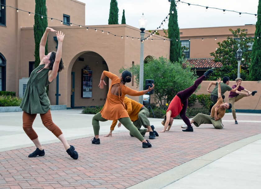 Members of the San Diego Dance Theater perform at Liberty Station.
