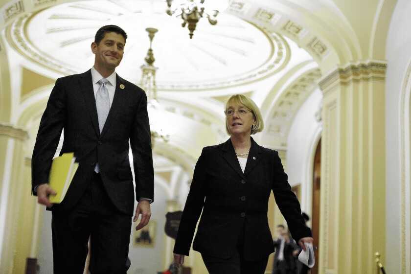 House Budget Committee Chairman Paul D. Ryan (R-Wis.) and Senate Budget Committee Chairwoman Patty Murray (D-Wash.) worked one-on-one to forge a key budget deal.