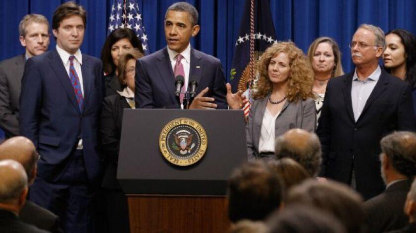 """Barack Obama recibió a los """"Millonarios Patriotas"""" en la Casa Blanca en el año 2012."""