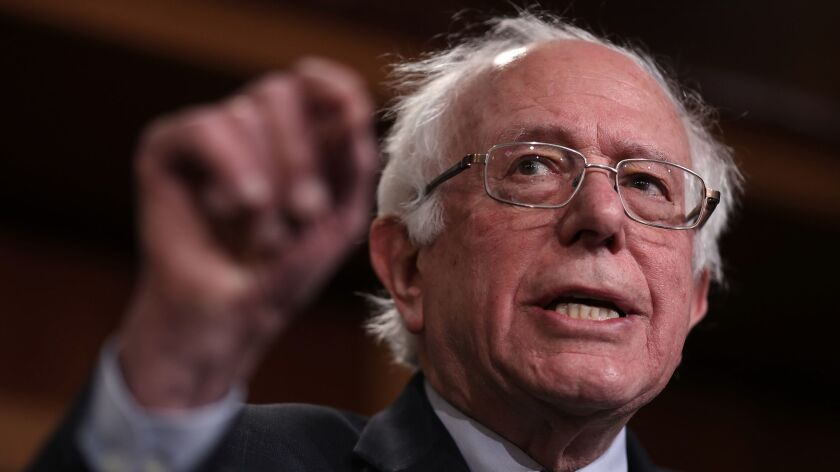 Sen. Bernie Sanders (I-Vt.), pictured at a January news conference at the Capitol, entered the Democratic presidential race Tuesday.