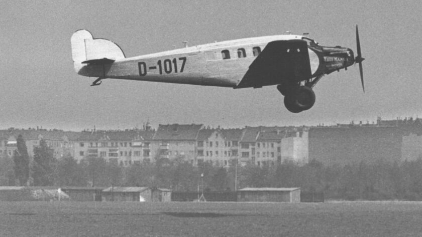 This 1928 Lufthansa Junkers plane formed part of the two-year-old airline's fleet.