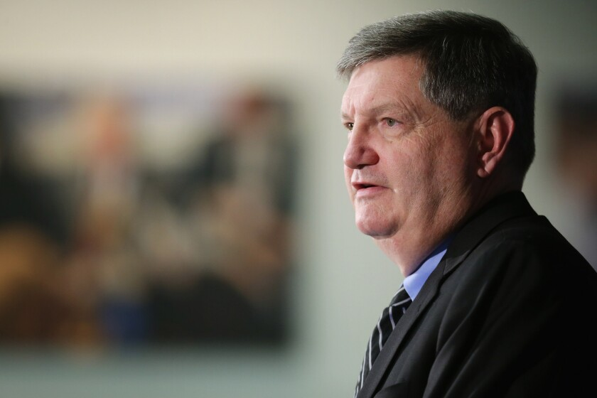 New York Times reporter James Risen answers questions during a news conference in August in Washington, D.C.