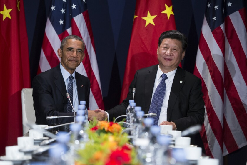 President Obama and China's Xi Jinping