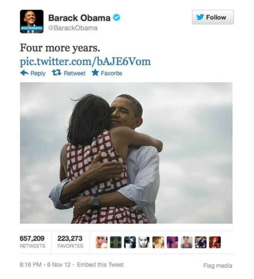 Obama, election break Twitter records