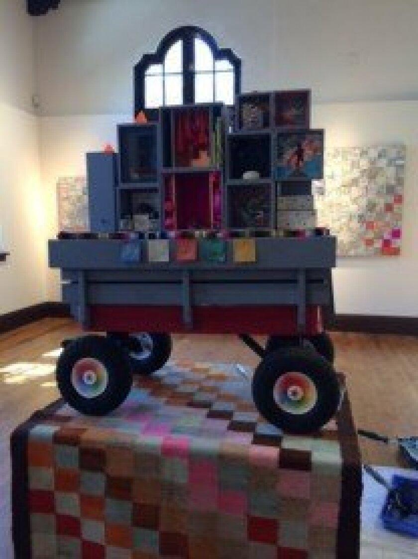 The Book Arts Shrine at 'SIBYL REDUX.'  Sibyl Rubottom
