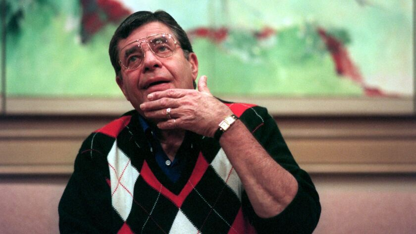 Jerry Lewis during a Q & A session at the Century Plaza Towers Hotel in Century City. Lewis is starr