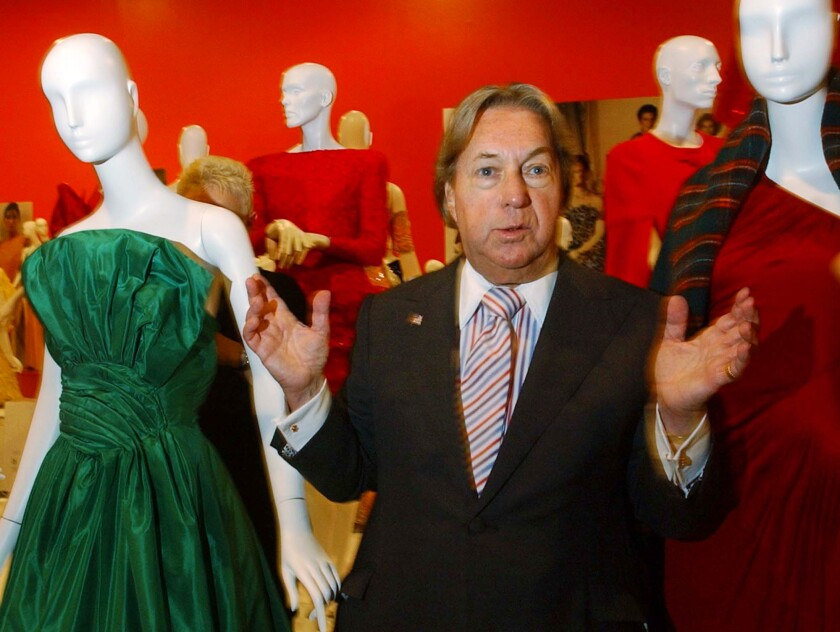 Arnold Scaasi at the Fashion Institute of Technology in New York in 2002.