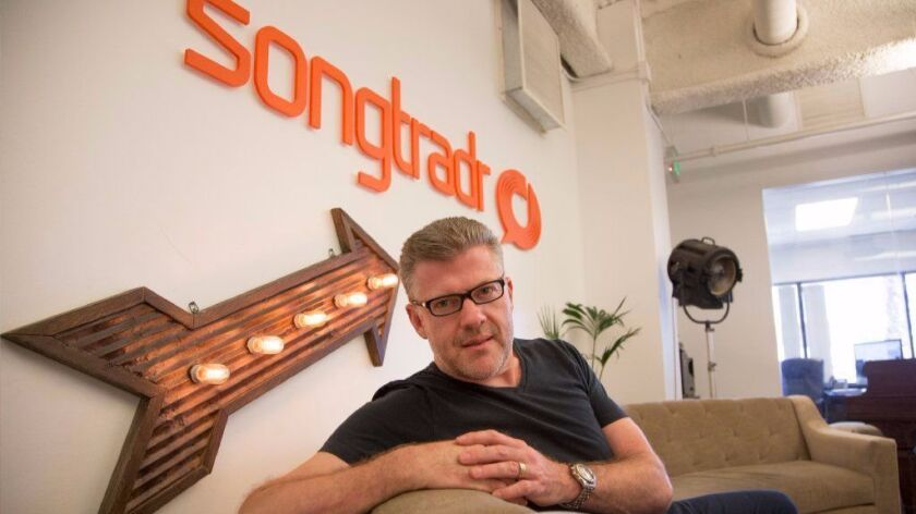 Paul Wiltshire is chief executive and founder of Songtradr Inc., a Santa Monica-based company that specializes in licensing music for bands.