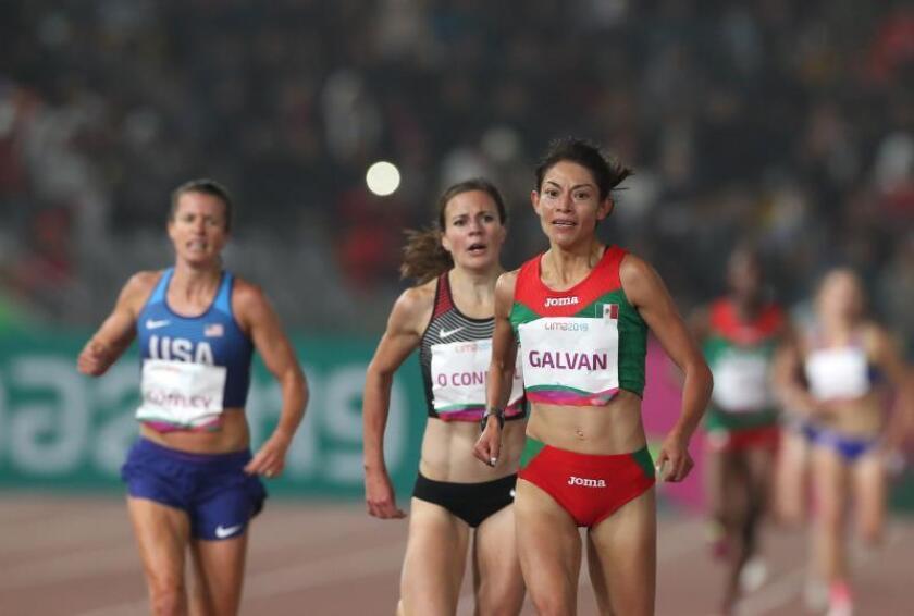 Laura Esther Galván de México gana oro en los 5000m femenino este viernes durante los Juegos Panamericanos Lima 2019, en Lima (Perú). EFE/Orlando Barría