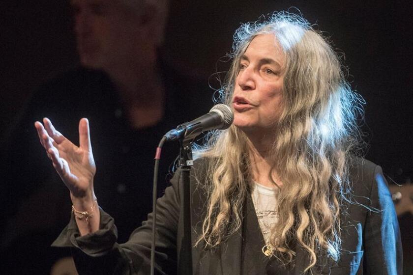 La cantante y poetisa estadounidense Patti Smith. EFE/Archivo