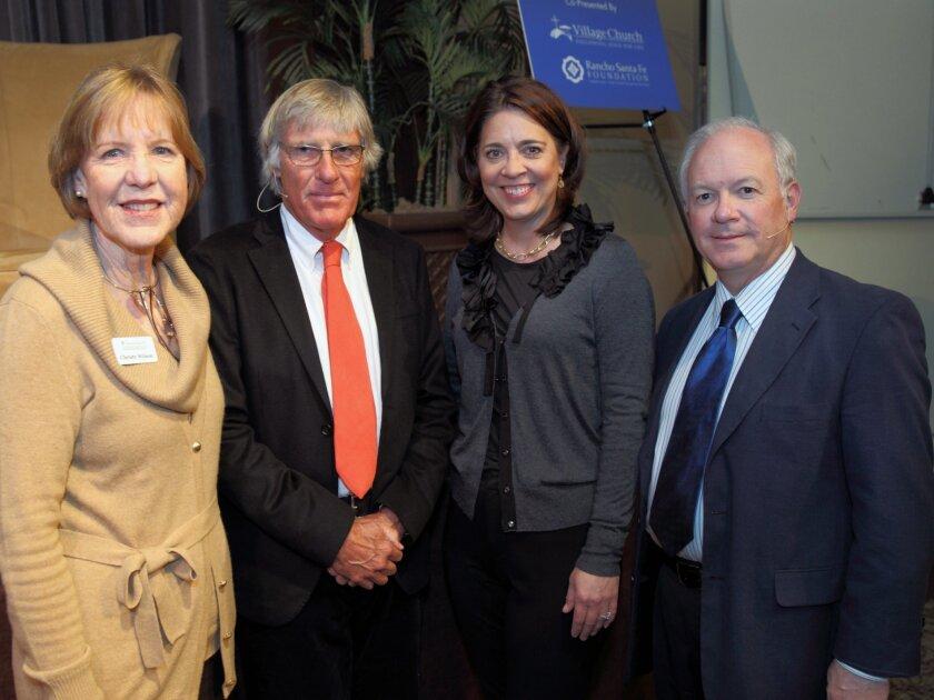 Christy Wilson, (executive director, RSF Foundation), Ambassador Jeremy Kinsman, Paige Vanosky and The Rev. Jack Baca. Photo by Jon Clark