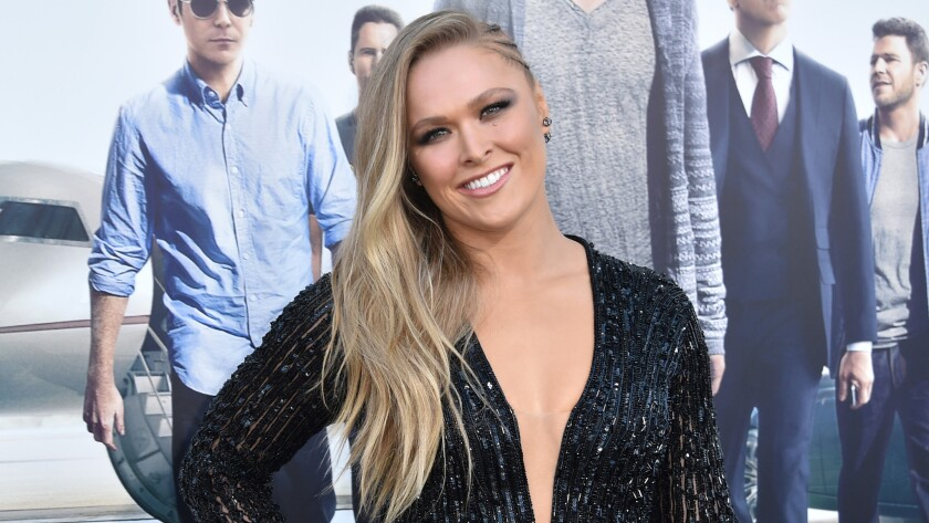 """Ronda Rousey arrives June 1 at the Los Angeles premiere of """"Entourage"""" in Westwood."""