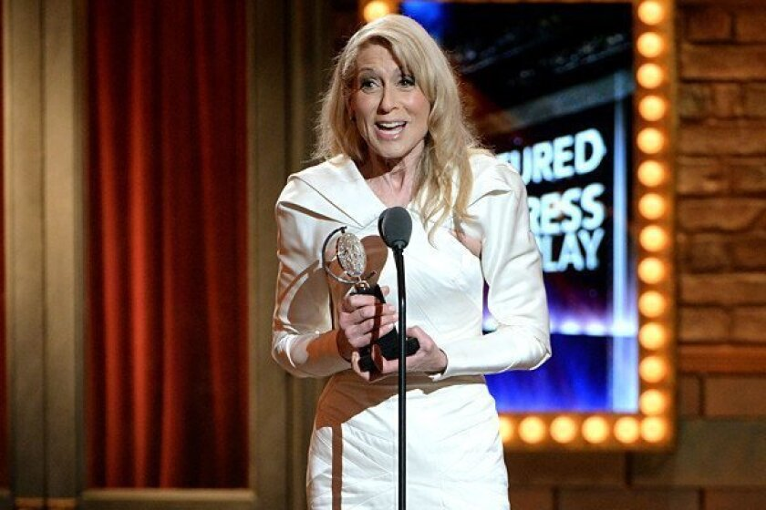 """Actress Judith Light accepts the award for Performance by an Actress in a Featured Role in a Play for """"The Assembled Parties."""""""
