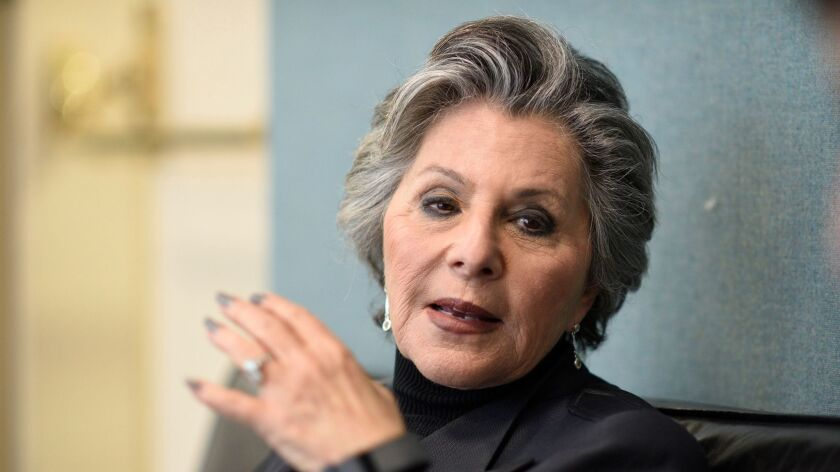 MARCH 10, 2017 CA BERKELEY, CA Former California Senator Barbara Boxer speaks during an interview be