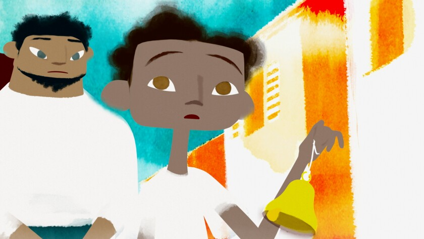 """An image from the animated short film """"Le Jour Extraordinaire"""" (Flowing Through Wonder) by Joanna Lurie"""