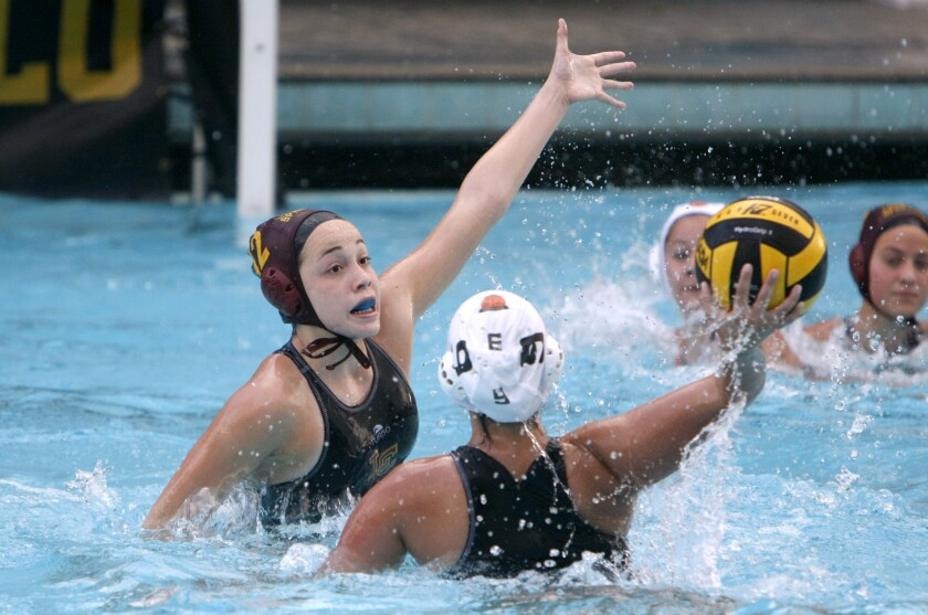 Tess Fundter is a key returner this season for the La Cañada High girls' water polo team.