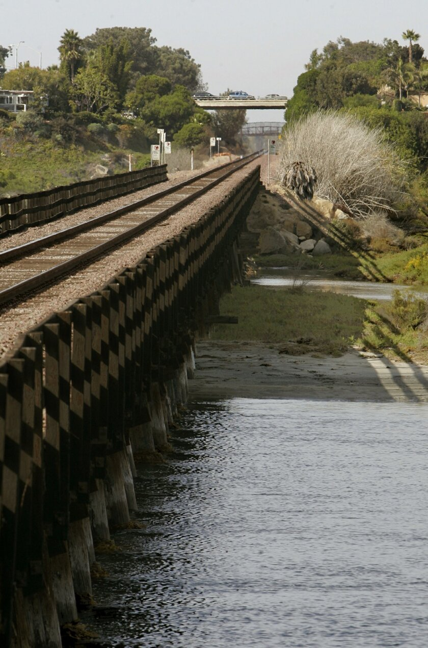 Regional transportation planners want to add a second set of train tracks in the area near the Del Mar Fairgrounds.