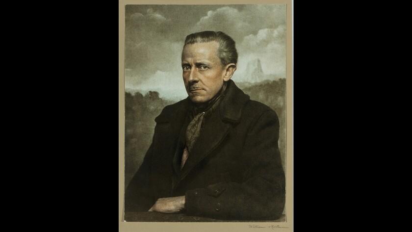 "A self-portrait of William Mortensen, circa 1955. The image is included in the book ""American Grotesque: The Life and Art Of William Mortensen"" by William Mortensen and edited by Larry Lyttle and Michael Moynihan."