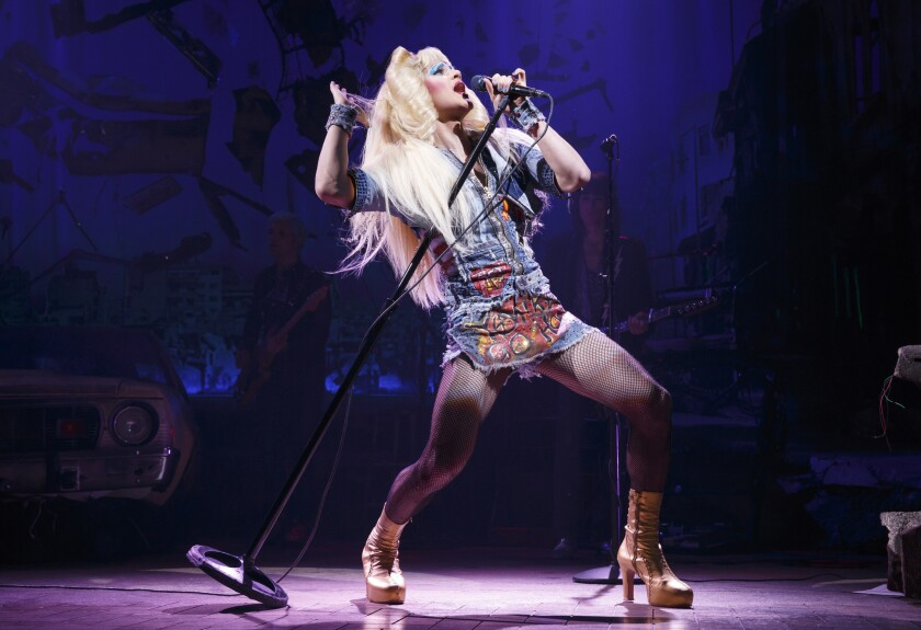 "Darren Criss as Hedwig in ""Hedwig and the Angry Inch."""
