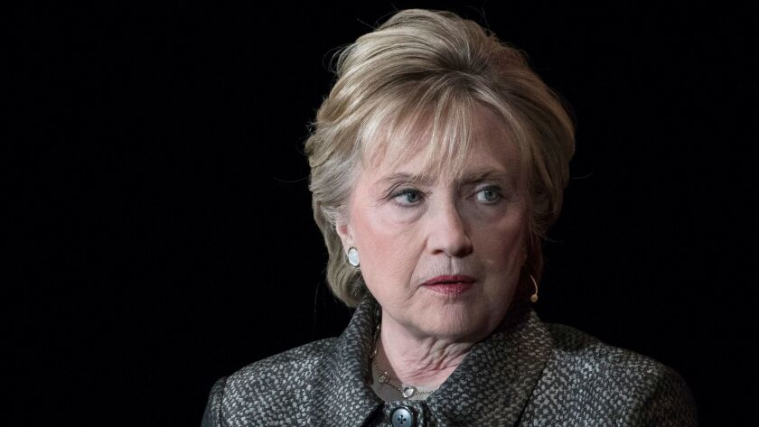 Hillary Clinton, shown in April at the Women in the World Summit in New York, spoke Tuesday by teleconference to a economics and policy conference in Beijing,