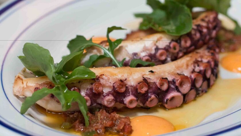 Octopus a la Plancha at Ironside in Little Italy.