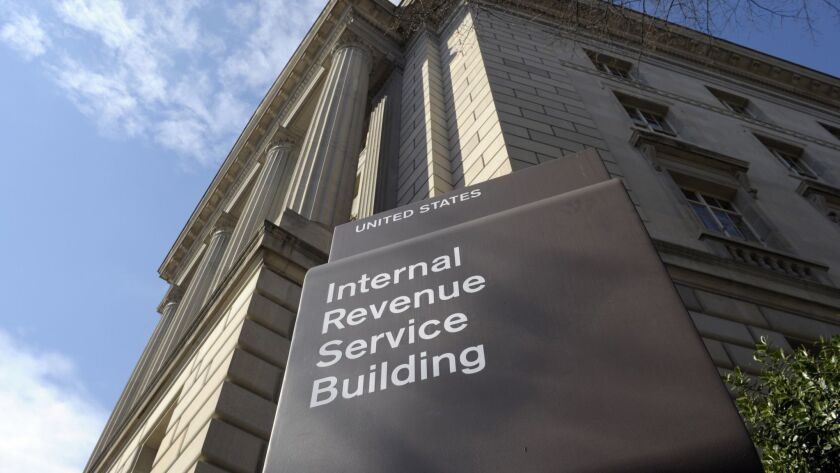 FILE - This March 22, 2013 file photo shows the exterior of the Internal Revenue Service (IRS) build