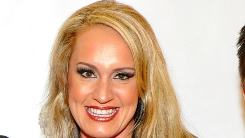 Scottie Nell Hughes at Politicon at Pasadena Convention Center on July 29.