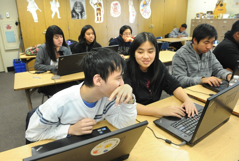 At Franklin High School in Los Angeles, students learn how to take down hackers and cyber terrorists.