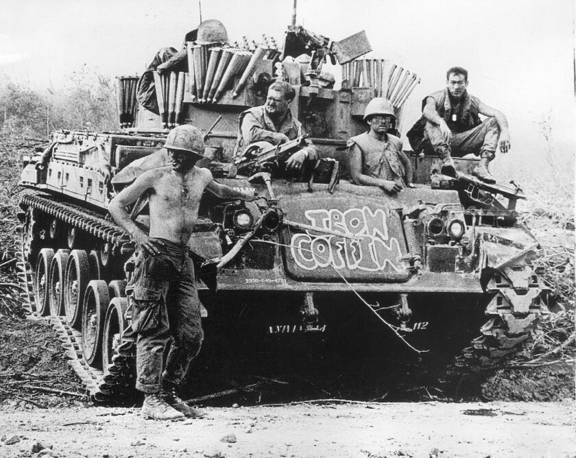 Soldiers near Khe Sanh in Vietnam in 1971