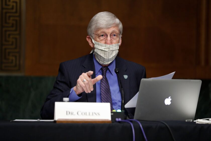 National Institutes of Health Director Dr. Francis Collins testified at a Senate hearing on COVID-19 tests.