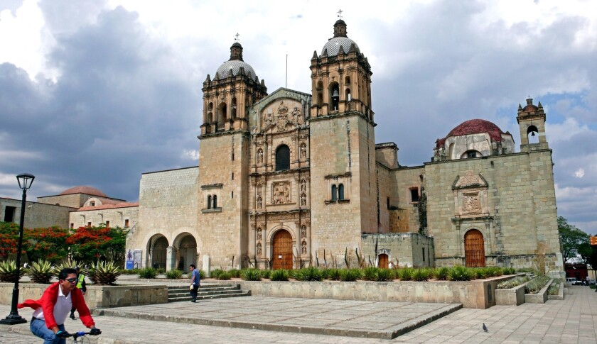 The Church of Santo Domingo de Guzman is a focal point in Oaxaca.