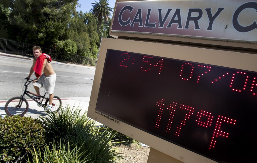WEST HILLS, CALIF. -- FRIDAY, JULY 6, 2018: A message board at Calvary Church on Shoup Ave. reads 11