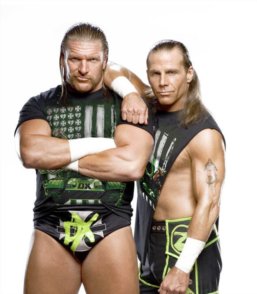 Triple H, left, and Shawn Michaels as D-Generation X.