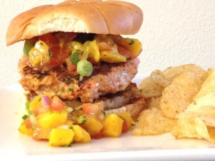 Salmon burger submission from George Levinthal of Goleta, Calif.