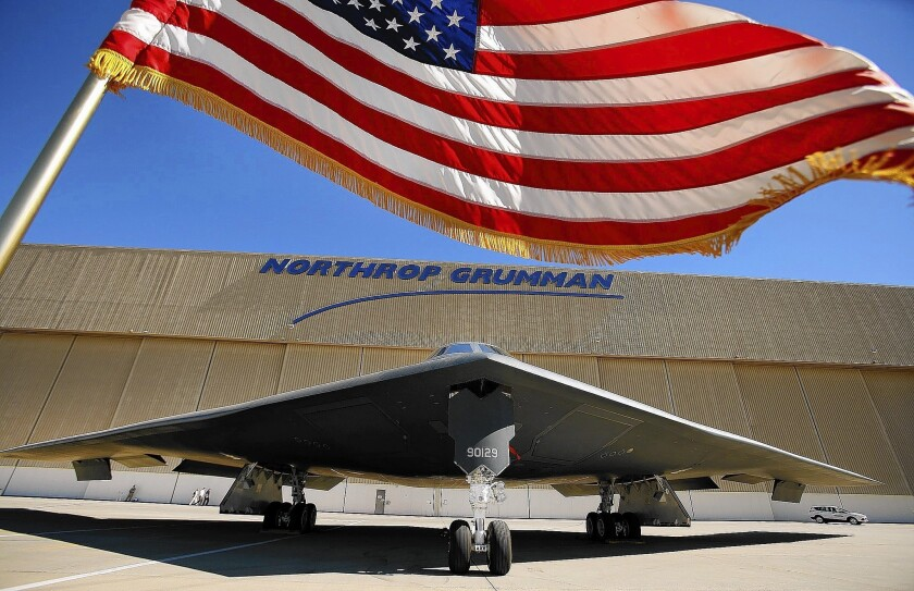 A bill that would give Northrop Grumman a big tax break should it win a new Air Force bomber contract and build the aircraft in California passed the state Assembly on a 73-0 bipartisan vote. Above, a Northrop Grumman facility in Palmdale.