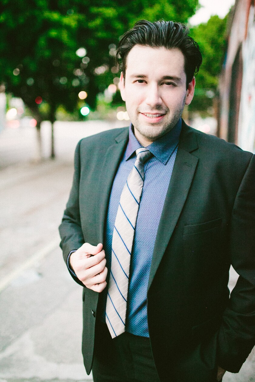 Tenor Joshua Guerrero, pictured, will perform with Ailyn Perez in recital on Dec. 11 at the Balboa Theatre as Part of San Diego Opera's Detour series.