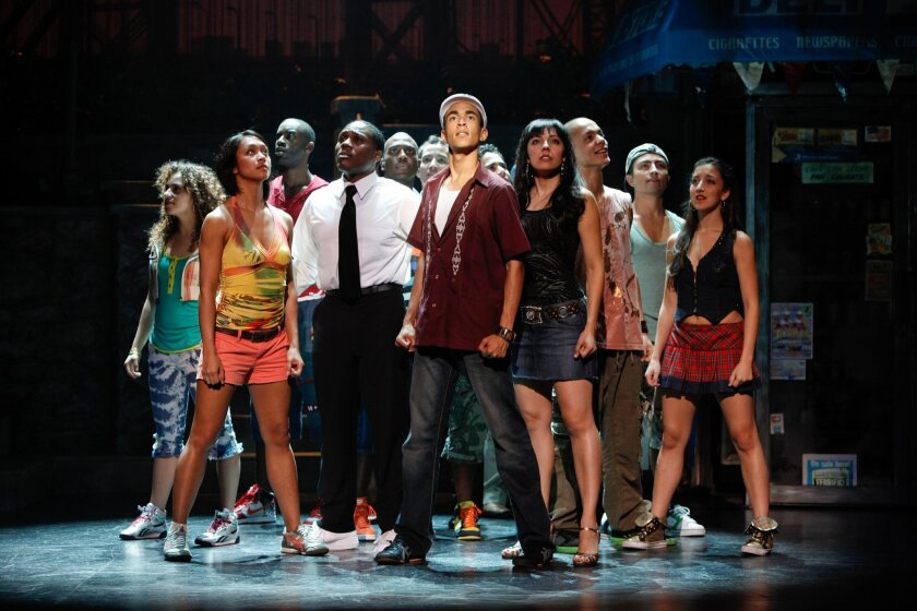 """The high-energy, hip-hop-influenced """"In the Heights"""" was the toast of Broadway two years ago, taking home four Tony Awards. Now, it is on the road, and the touring production hits San Diego next week. Joan Marcus"""