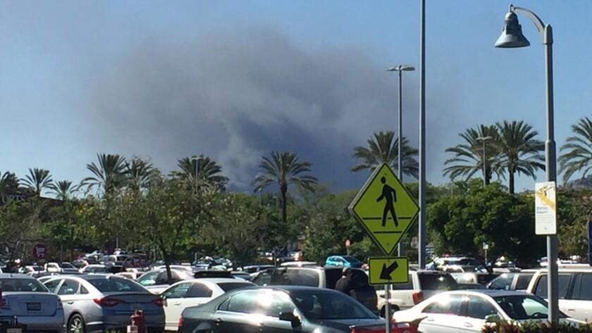 Smoke visible from Burbank