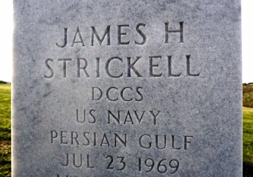 Navy veteran James Strickell is buried at Miramar National Cemetery.