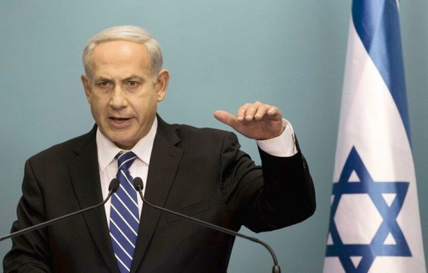 """At this time it is not possible to pass a responsible budget,"" Israeli Prime Minster Benjamin Netanyahu said."