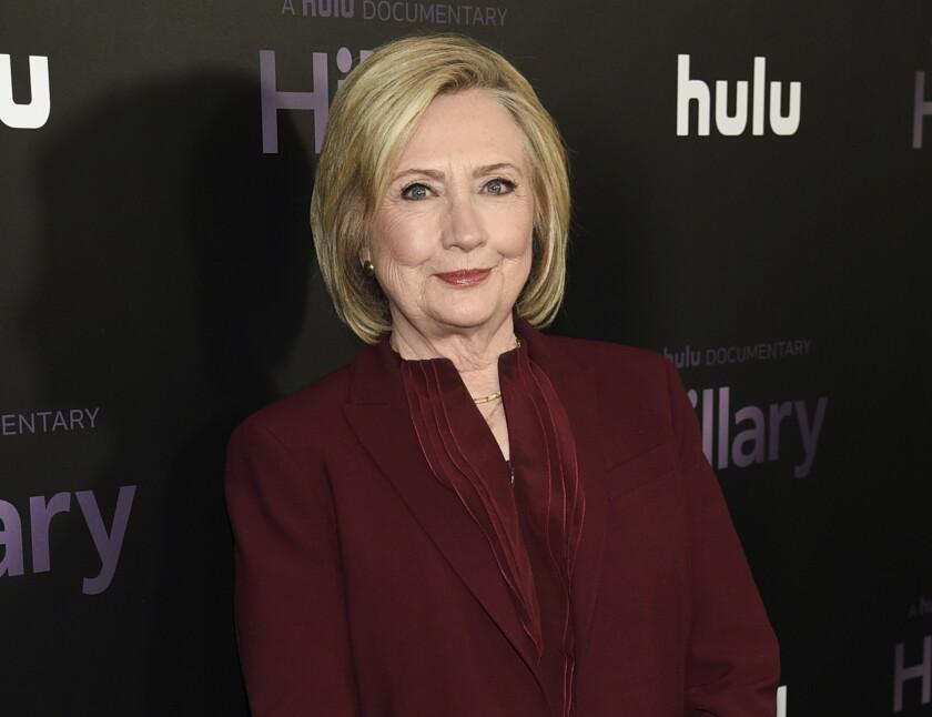La exsecretaria de Estado Hillary Clinton