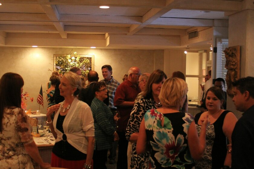 Approximately 30 people attend the Soroptimist installation dinner at the Crab Catcher.