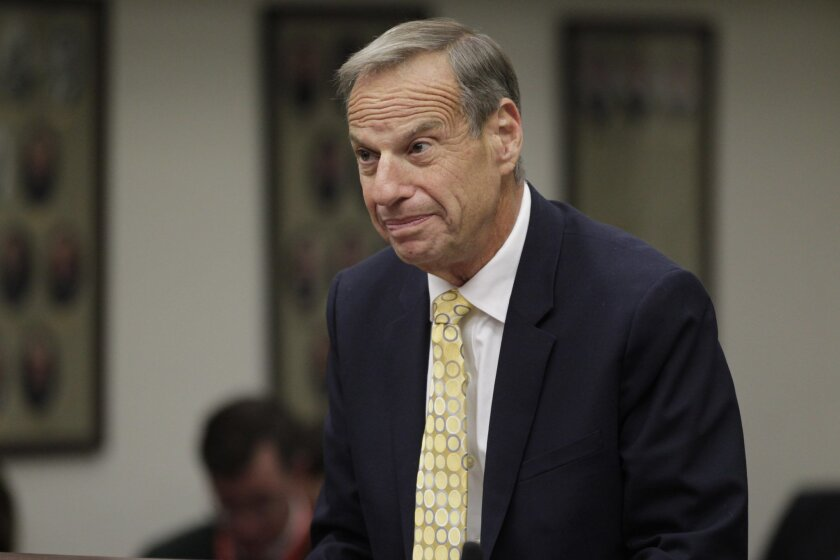 Former Mayor Bob Filner during sentencing in Superior Court.