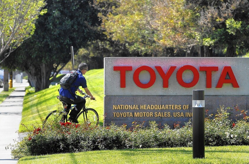 Toyota's move from its Torrance facility, above, will occur over the next three years as the new headquarters is built in Plano, Texas.