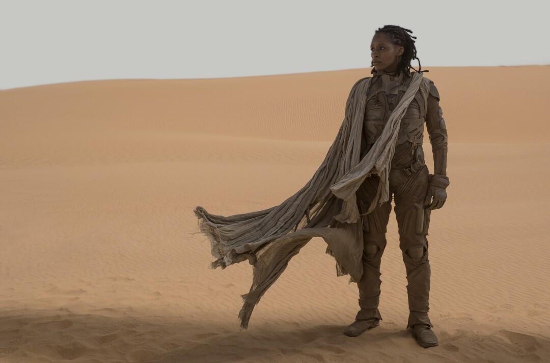 "Sharon Duncan-Brewster as Dr. Liet Kynes in ""Dune."""
