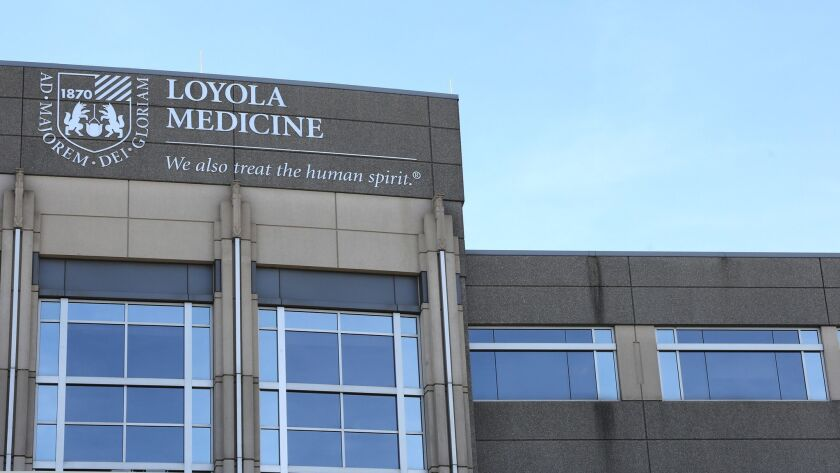 Loyola University Medical Center in Maywood. Area hospitals are preparing for potential influxes of patients with frostbite and hypothermia.